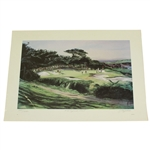 Ltd Ed 1985 Cypress Point Hole #15 Print Signed by Artist J. Fitzpatrick