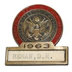 CHAMPION Deane Bemans 1963 US Amateur Championship Contestant Badge-Significant Opportunity!
