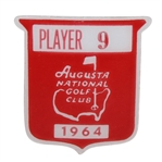 Deane Bemans 1964 Masters Tournament Contestant Badge #9 - LOW AMATEUR - Palmer Win