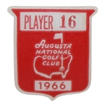 Deane Bemans 1966 Masters Tournament Contestant Badge #16 - Nicklaus Win