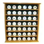 Wooden Golf Ball Display Rack with 42 Logo Golf Balls
