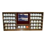 Large Wooden Golf Ball Rack and 49 Logo Golf Balls - Rack Depicts Augusta National Hole