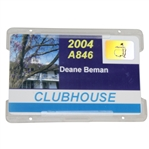 Deane Bemans 2004 Masters Tournament Clubhouse Badge #A846 - Phil Mickelson Winner