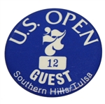 Deane Bemans 1977 US Open at Southern Hills Guest Badge #12 - Hubert Green Winner