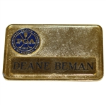 Deane Bemans Personal PGA of America Undated Name Badge
