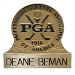 Deane Bemans Personal PGA of America Undated Name Clip