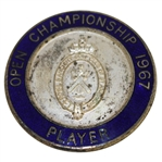 Deane Bemans 1967 Open Championship Contestant Badge - Roberto de Vicenzo Winner