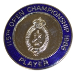 Deane Bemans 1986 Open Championship Contestant Badge - Greg Norman Winner