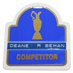Deane Bemans 1986 Open Championship at Turnberry Contestant Bag Tag - Greg Norman Winner