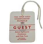 1987 Open Championship at Muirfield Guest Ticket #053 - Nick Faldo Winner - Deane Beman Collection