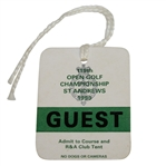 1990 Open Championship at St. Andrews Guest Ticket #812 - Nick Faldo Winner - Deane Beman Collection