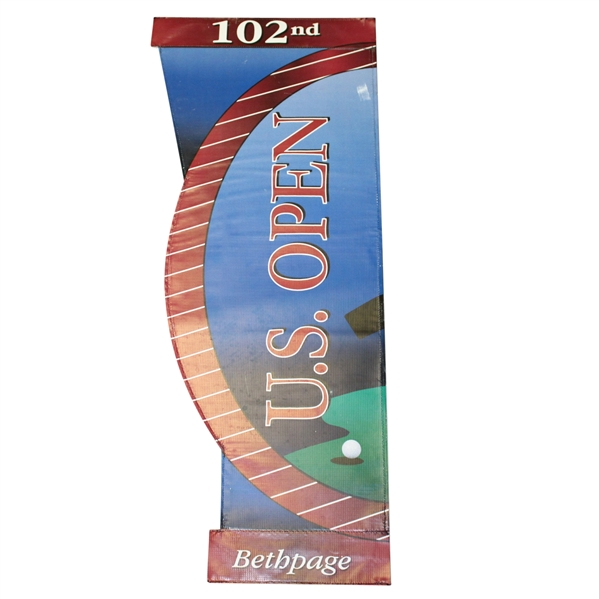 2002 US Open at Bethpage Black Banner - Tiger Woods Win