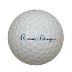 President Ronald Reagan Signature Logo Golf Ball and Box