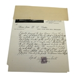 1904 Promissory Note To J. H. Taylor from H. L. Curtis for £255 - Taylor Initialed JSA ALOA