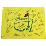 Masters Undated CHAMPS Flag Signed by 31 Winners (Nelson, Snead, Keiser, Seve, Big 3) - PSA/DNA #B03323