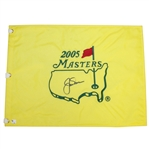 Jack Nicklaus Signed 2005 Masters Embroidered Flag JSA ALOA