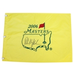 Phil Mickelson Signed 2006 Masters Embroidered Flag JSA ALOA