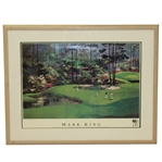 1988 Masters 11th Green Print by Mark King - Martin Lawrence Ltd Editions - Framed