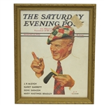 1935 The Saturday Evening Post Golf Cover - August - Framed