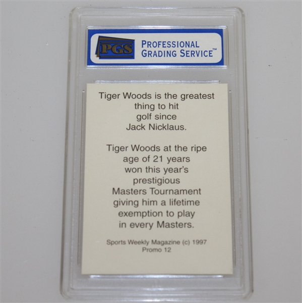 Tiger Woods 1997 Sports Weekly Promo Card PGS #172518 - Mint 9