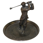 Classic Silver Plated Golfer in Decorative Tray - Paisler #160