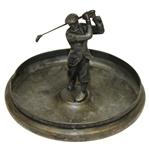 Classic Golfer in Decorative Tray - International Silver Plate #214