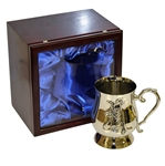 Bobby Jones Engraved Quote Silver Plated 18oz Golf Tankard in Wood Display Box