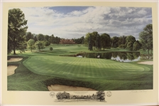 1993 Ltd Ed US Open at Baltusrol 4th Hole Print Signed by Artist Linda Hartough 440/1250 with COA