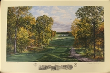 2002 Ltd Ed US Open at Bethpage Black 4th Hole AP Signed by Artist Linda Hartough 76/85 with COA