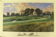 2007 Ltd Ed US Open at Oakmont CC 14th Hole AP Signed by Artist Linda Hartough 70/85 with COA