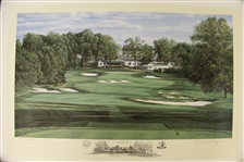 1994 Ltd Ed US Open at Oakmont 18th Hole Print Signed by Artist Linda Hartough 149/850 with COA