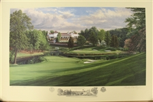 1997 Ltd Ed US Open at Congressional 17th Hole AP Signed by Artist Linda Hartough 43/85 with COA