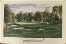1999 Ltd Ed US Open at Pinehurst No. 2 5th Hole AP Signed by Artist Linda Hartough 79/85 with COA