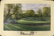 2003 Ltd Ed US Open at Olympia Fields 12th Hole AP Signed by Artist Linda Hartough 77/85 with COA
