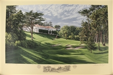 1998 Ltd Ed US Open at The Olympic Club 18th Hole AP Signed by Artist Linda Hartough 77/85 with COA