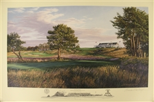 2004 Ltd Ed US Open at Shinnecock Hills 9th Hole AP Signed by Artist Linda Hartough 79/85 with COA