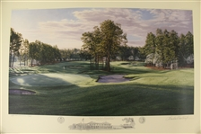 2005 Ltd Ed US Open at Pinehurst No. 2 16th & 17th Holes AP Signed by Artist Linda Hartough 24/85 with COA