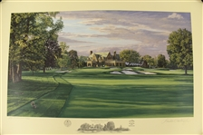 2006 Ltd Ed US Open at Winged Foot 9th Hole AP Signed by Artist Linda Hartough 40/85 with COA