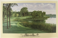1991 Ltd Ed US Open at Hazeltine 16th Hole AP Signed by Artist Linda Hartough 39/85