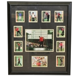 Tiger Woods Signed UDA 8x10 Photo with Cards #10/100 - Framed