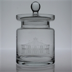 "Augusta National Golf Club Members Clubhouse Glass Container with Lid - 8"" Tall"