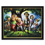 Bushwood - Tribute to Caddyshack Piece by Artist David OKeefe - Framed