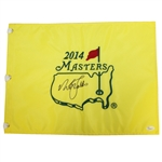 Nick Faldo Signed 2014 Masters Embroidered Flag JSA #L35417