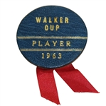 Deane Bemans 1963 Walker Cup Match Contestant Badge/Ribbon