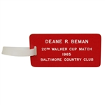 Deane Bemans 1965 Walker Cup Match Contestant Bag Tag