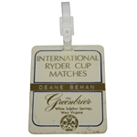 Deane Bemans 1979 Ryder Cup at The Greenbrier Bag Tag