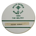 Deane Bemans 1985 Ryder Cup at The Belfry Badge