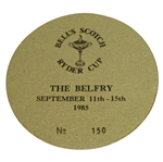 Deane Bemans 1985 Ryder Cup at The Belfry Badge #150