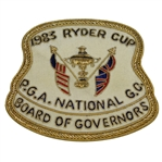 Deane Bemans 1983 Ryder Cup at PGA National Golf Club Board of Governors Patch