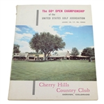 1960 US Open at Cherry Hills Program - Arnold Palmer Winner - Deane Beman Collection